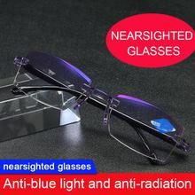 Mężczyźni kobiety okulary o wysokiej twardości okulary w podeszłym wieku okulary anty-niebieskie okulary antystresowe okulary komputerowe kwadratowe bezramowe tanie tanio FGHGF CN (pochodzenie) Z tworzywa sztucznego Unisex NONE Presbyopic cover support