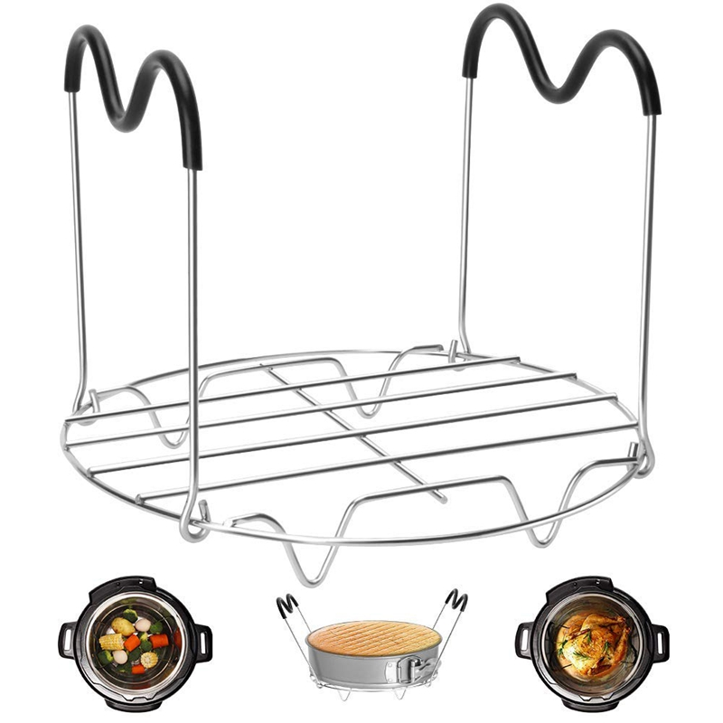Top-Steamer Stand With Silicone Handles Is Compatible With Ready-To-Eat Pot Accessories 6Qt8 Quarts, Pressure Cooker Steam Rack,