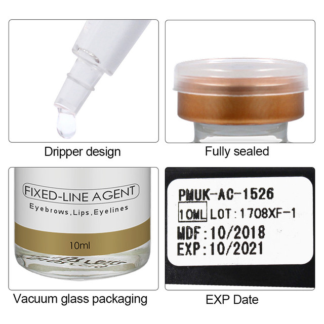 Biomaser Microblading Pigment Fixing Agent Permanent Makeup Ink Color Lock Assistence Eyebrow Fixed-line Tattoo Accessory 2
