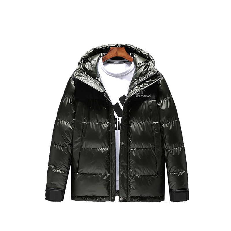 Mens แคนาดาลงเสื้อแคนาดา Hooded ฤดูหนาว Casual Coat Thicken เกาหลีกลางแจ้ง Doudoune HOMME แฟชั่น Outerwear