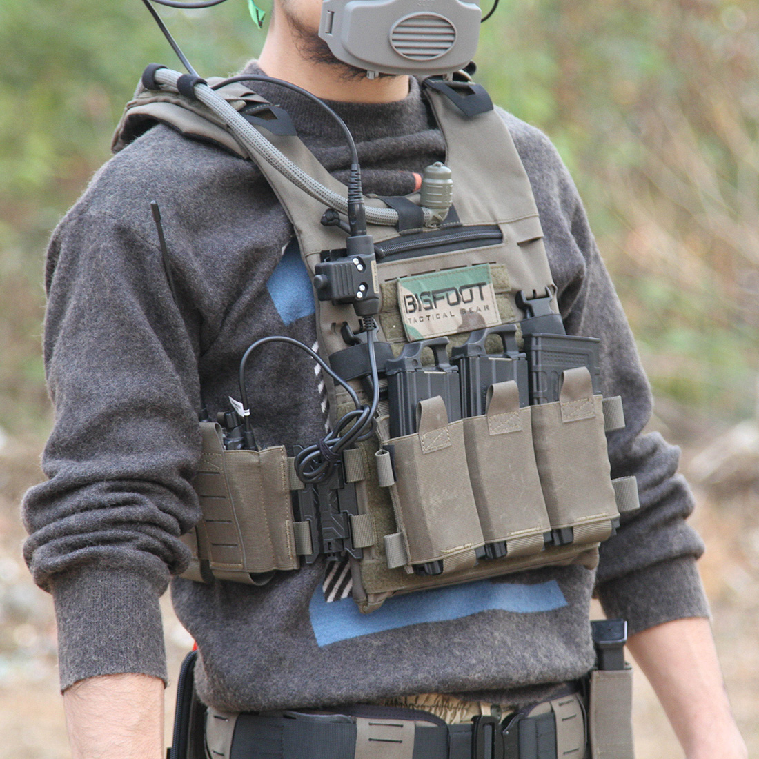 BF GTPC Quick Release Lightweight Tactical Hunting Vest Outdoor Shooting Range Training Vest For 2020 Airsoft - PSI Version