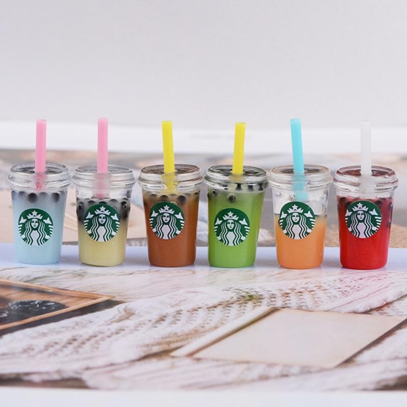 6PCS Miniature Food Play Drink Coffee Cup Model 1/12 Ob11 Furniture Scene Diy Mini Doll House 1 / 6BJD Kitchen Food Toy