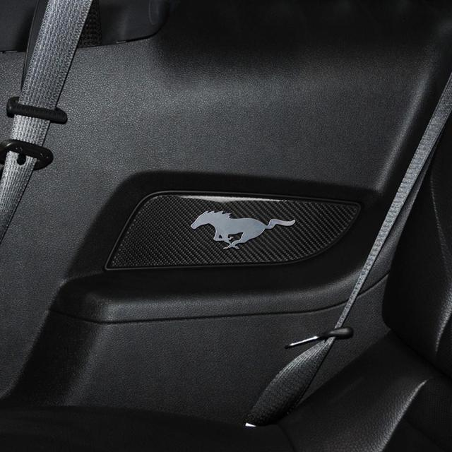For Ford Mustang 20010-2014 Carbon Fiber car door panel kit with chrome mustang modified sticker decoration REMIN interior