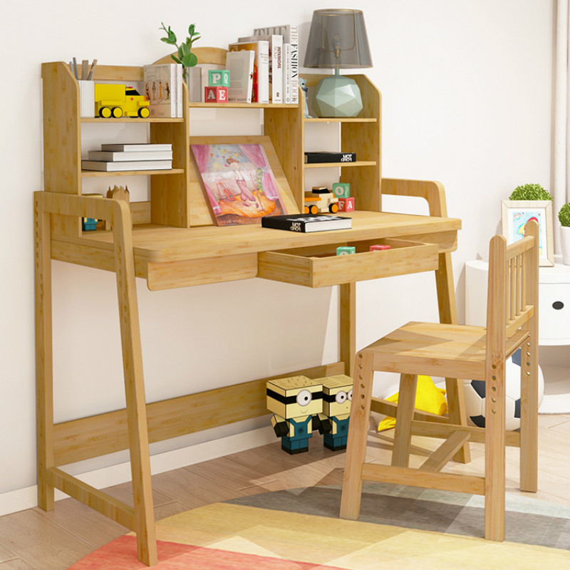 Learning Desk, Student Desk, Chair, Desk, Lift, Bamboo, Bamboo, Children's Desk, Lifting Table.