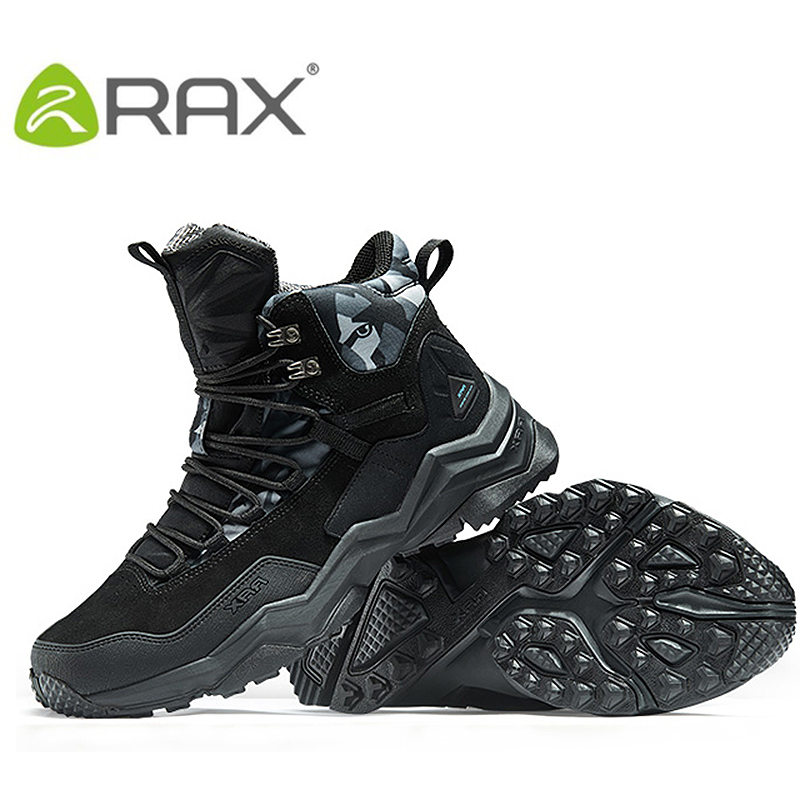 RAX 2016 Waterproof Hiking Shoes Men Winter Boots Women Hunting Warm Outdoor Walking Trekking