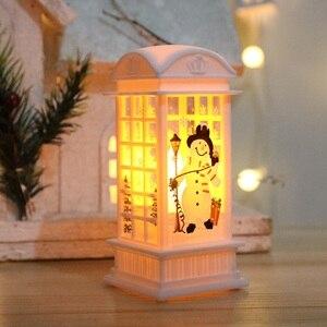 Рождественские декоративные огни 2021, новогодний подарок для детской вечерние, спальни, настольная лампа, бронзовый Санта-Клаус/Снеговик/Лось