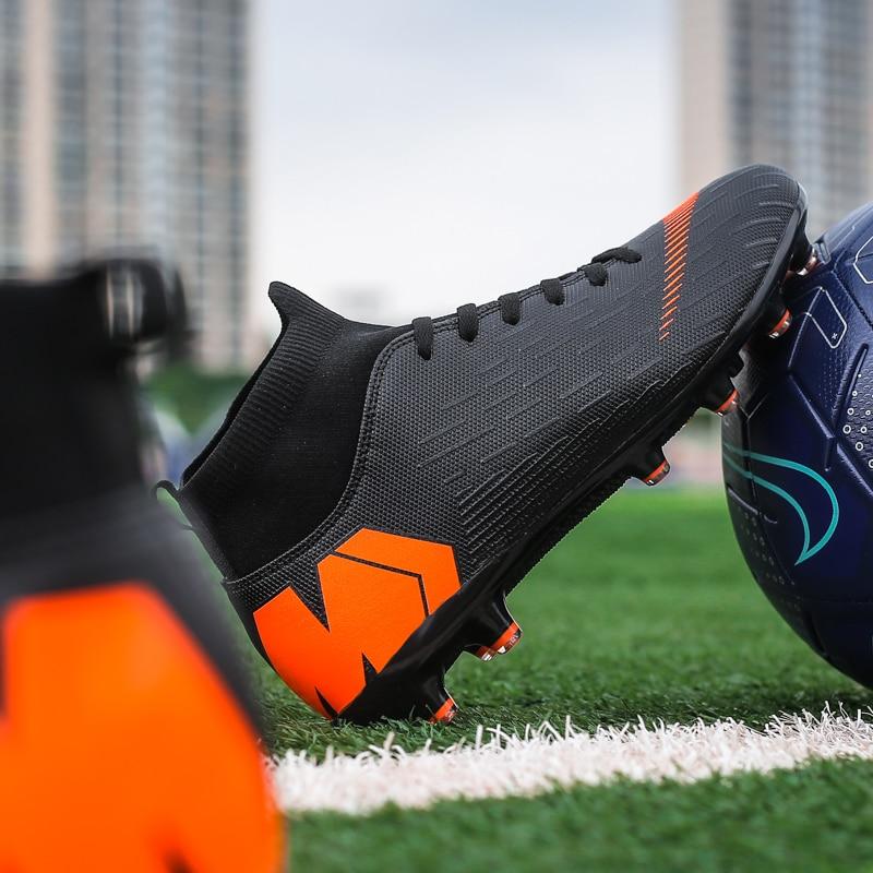 Outdoor Football Boots Men Sneakers Soccer Boots Turf Football Boots Kids Soccer Cleats AG/FG Spikes Training Sport Futsal Shoes 4