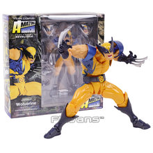 Incrível yamaguchi revoltech no.005 wolverine logan pvc figura de ação collectible modelo brinquedo