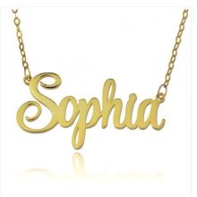 Personalized Custom Name Necklaces & Pendants Gold Color Nameplate Chain Necklaces Women Fashion Jewelry Choker