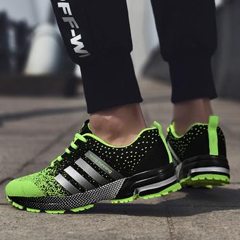 Big Size 46 męskie buty do biegania buty sportowe lekkie oddychające sneakersy damskie wygodne trening sportowy obuwie tanie i dobre opinie ZENVBNV Unisex Aktywny Stabilność Hard court Profesjonalne Dla dorosłych Wysokość zwiększenie Masaż Mesh (air mesh)