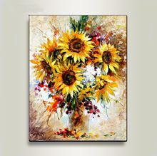 DIY Digital Oil Painting Frame Yellow Sunflower Wall Picture Now Art Living Room Poster Home Decoratio