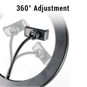 Image 5 - 6/8/10 אינץ LED Selfie טבעת אור צילום Selfie טבעת תאורה איפור וידאו חי עם חצובה Stand סטודיו טבעת מנורה