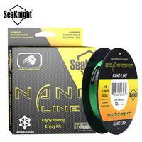 SeaKnight-línea de pesca NANO de 4 hebras trenzada, multifilamento de agua salada, aparejos de pesca súper fino, 100M, 300M, 4, 6, 8, 10lb