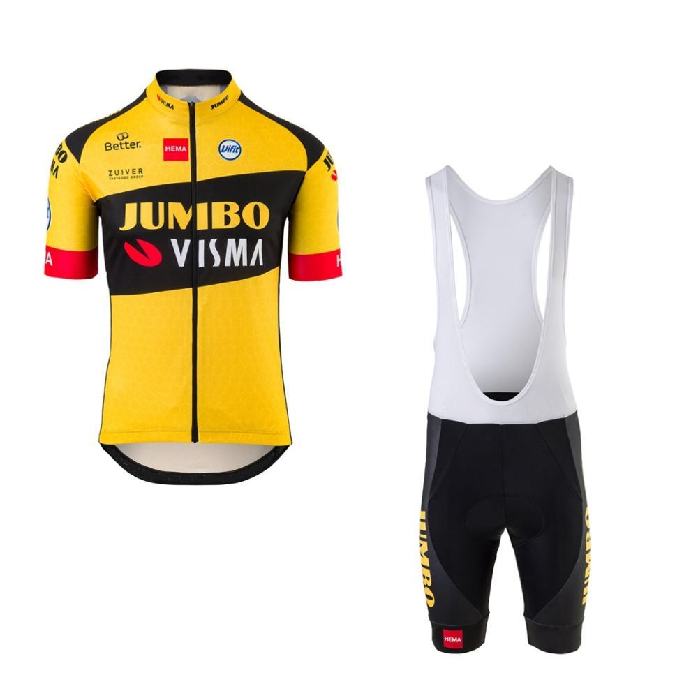 Новинка 2020, профессиональная команда jumbo visma, набор велосипедных Джерси, мужской дышащий MTB Быстросохнущий велосипед, Ropa ciclismo 9D гелевая подкл...