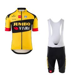 2020 new pro team jumbo visma cycling jersey set Bicycle maillot mens breathable MTB quick dry bike Ropa ciclismo 9D gel pad