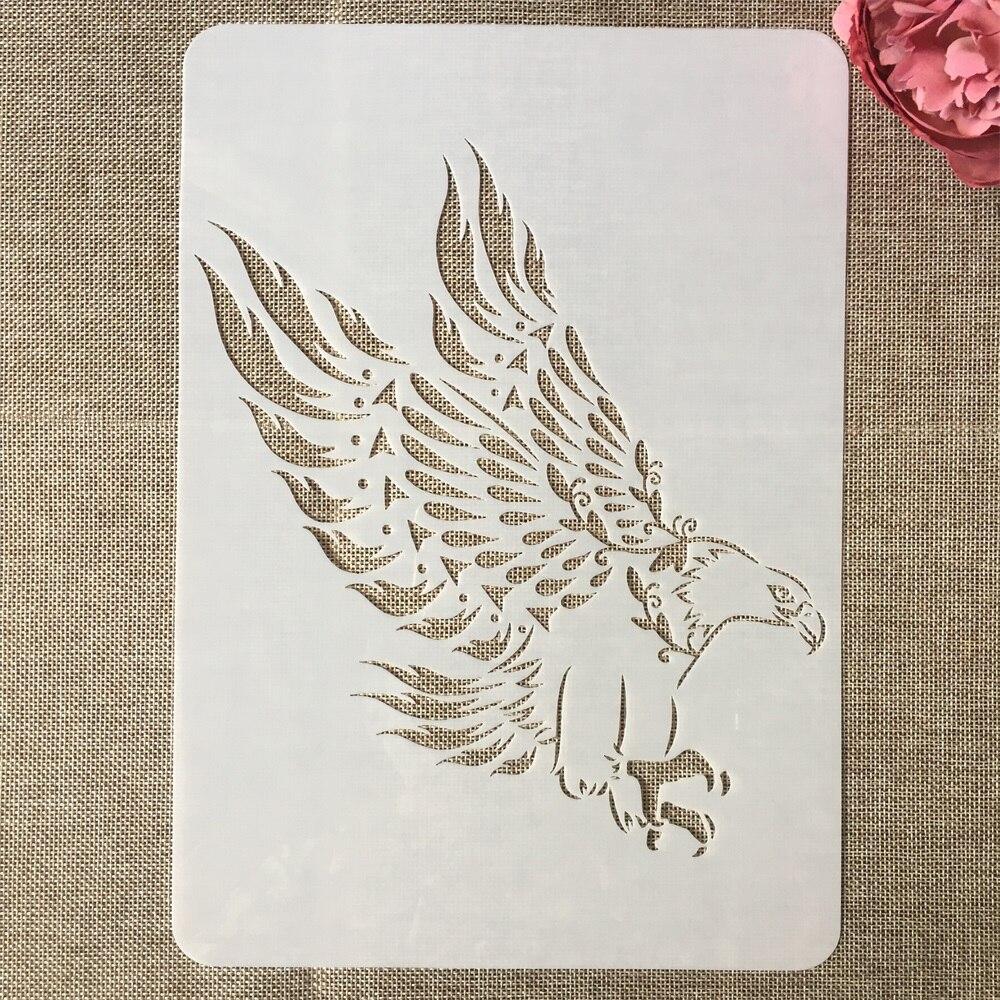 A4 29cm Eagle Bird Prey DIY Layering Stencils Painting Scrapbook Coloring Embossing Album Decorative Template