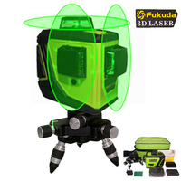 Fukuda Linha Luz Verde 93 T 12 3D 360 Horizontal E Vertical Faz De Auto-Nivelamento A Laser Cruz super Forte Linha Verde