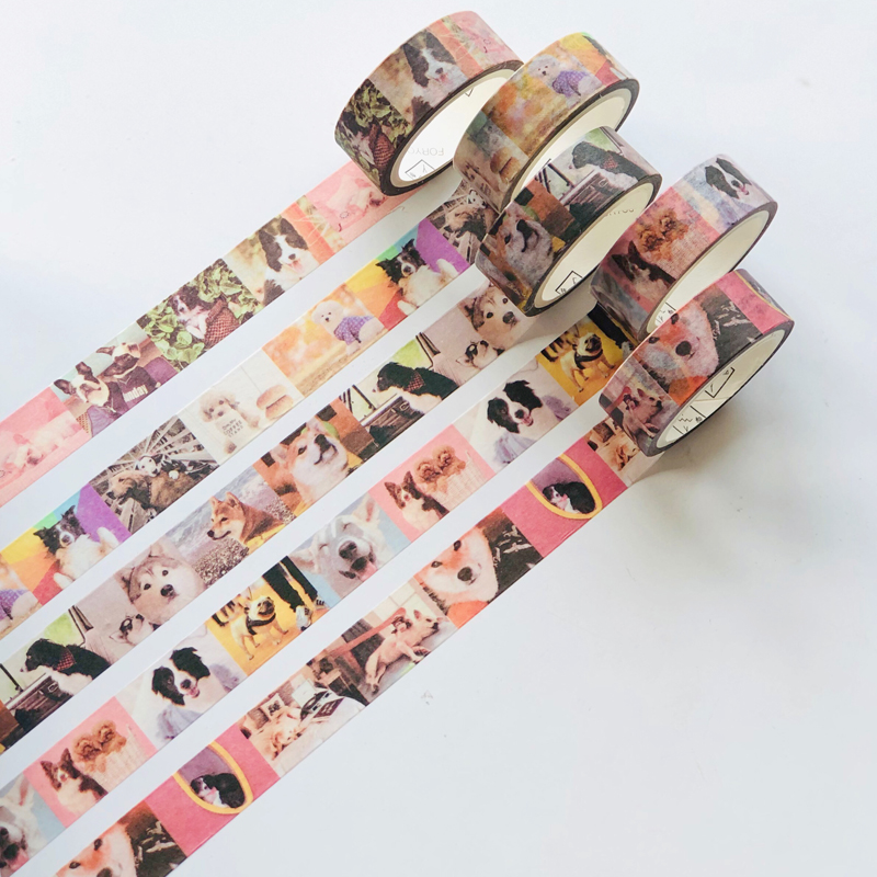 1.5cm *5 Meter Puppy Dogs World Washi Paper Masking Tape Decorative Stick Label