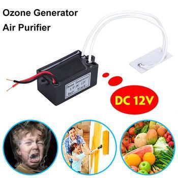 Generator ozonu oczyszczacz powietrza DC 12V domu filtr powietrza oczyszczacz powietrza dla domu samochód przenośny Ozonizador Ozonator Generator ozonu tanie i dobre opinie AUGIENB 50m³ h CN (pochodzenie) 12 v 10㎡ Mini Elektryczne ≤35dB 1000000 sztuk m³ 3-8m ³ Dezodoryzacja Standardowy