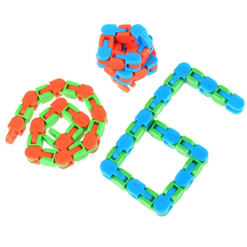 Sensory Toy Fidget-Toys Puzzles Autism Wacky Tracks Snake Kids Snap Classic 1pc Click img2