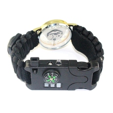 Wholesale Bracelet Field Survival Outdoor Camping Rescue Rope Watch