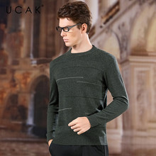 UCAK Brand Sweater Men 2020 NEW Arrival Pure Merino Wool O-Neck Casual Striped Homme Fashion Trend Streetwear Pullovers U3162