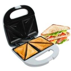 Elektryczna wtyczka Eu toster jajeczny Mini grillowanie Panini talerze do pieczenia toster wielofunkcyjne nieprzywierające urządzenie śniadaniowe w Pieczenie chleba od AGD na