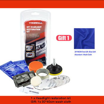 Car Headlight Restoration Polishing Kits Multipurpose Headlamp Lens Repair for Auto Motorcycle Improving Visibility And Security 9