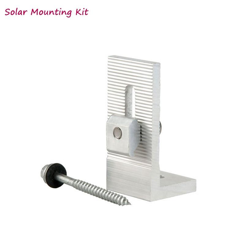 5 pcs painel solar suportes de montagem 04