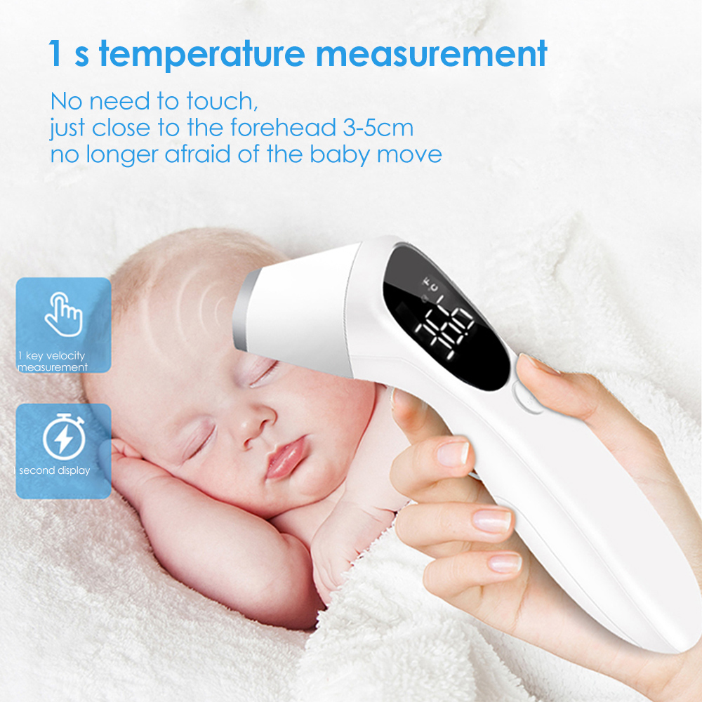 Digital multifunctional infrared thermometer non-contact forehead/ear thermometer for fever alarm for children and adults