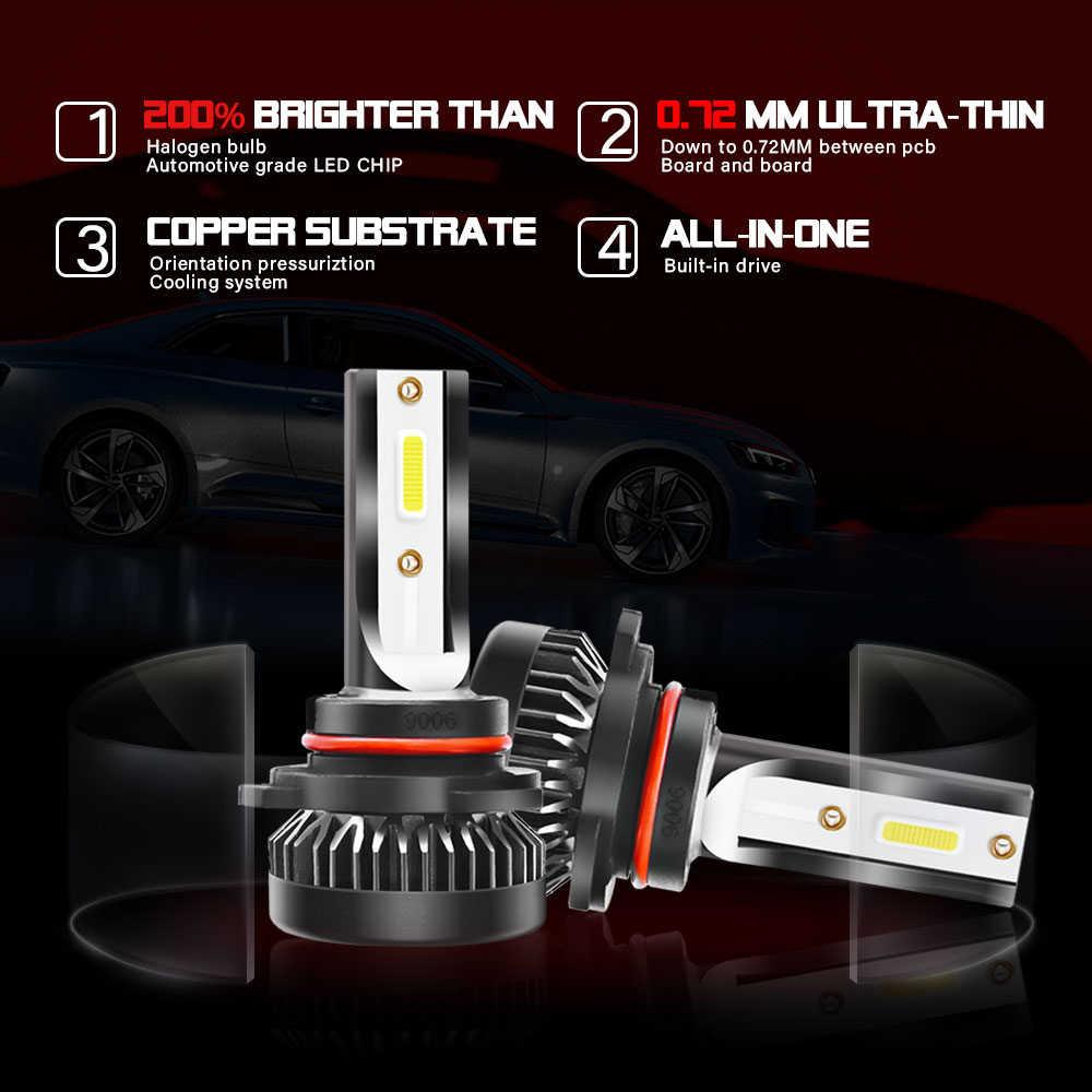 2 шт. H7 H11 светодиодный Автомобильный свет HB4 9006 HB3 9005 H4 9003 HB2 H8 H9 супер яркий 6000 К 8000 мл лампы Водонепроницаемый IP68 Автомобильный светодиодный фары