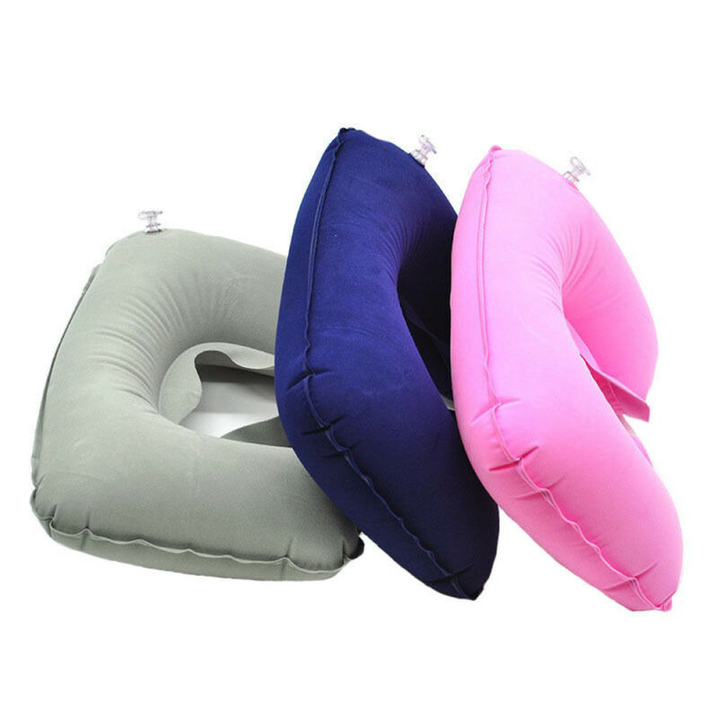 Inflatable U Shaped Car Flight Travel Nap Head Rest Air Cushion Neck Pillow New