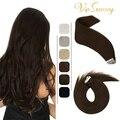 VeSunny лента для наращивания волос, человеческие волосы, блонд, лента для наращивания, натуральные волосы, бесшовные волосы для наращивания, ч...