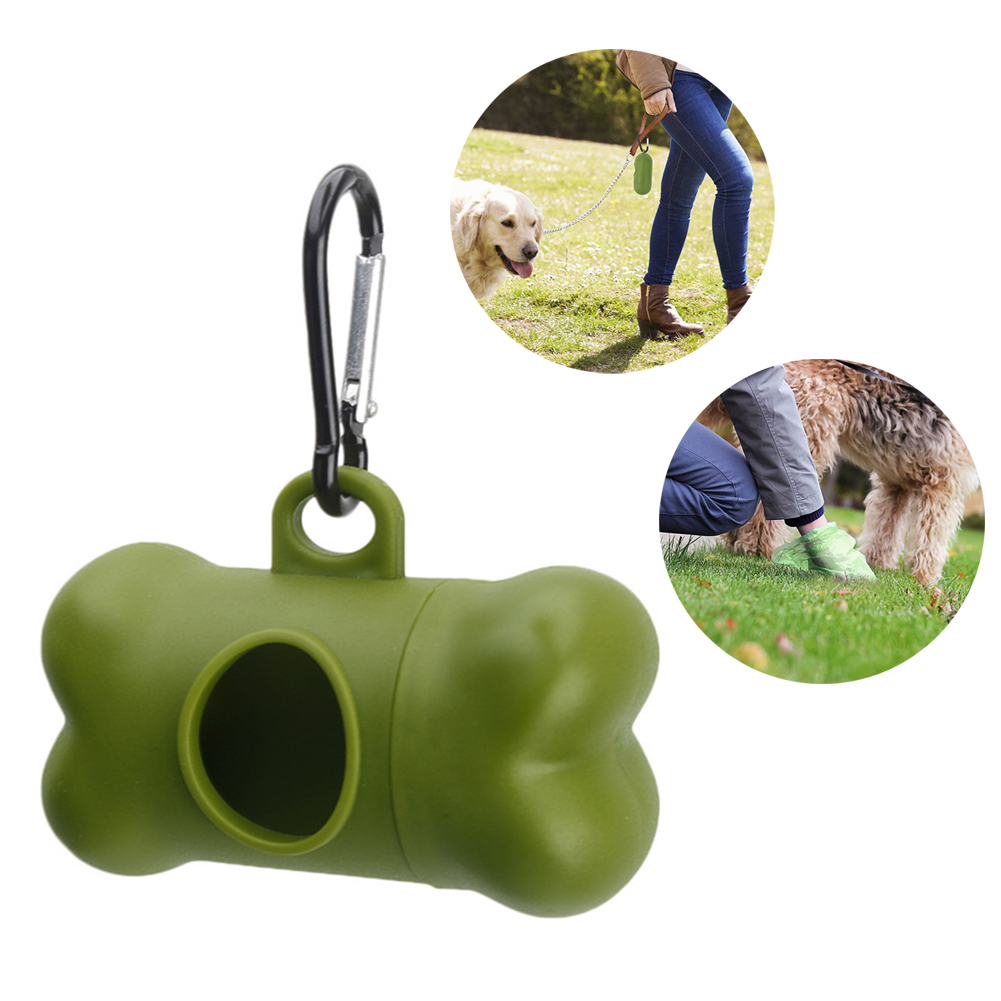 Dog Poop Bag Biodegradable Pet Waste Eco-Friendly Bags Dispenser Outdoor Carrier Pet Poop Bags Pets Dogs Trash Cleaning Supplies