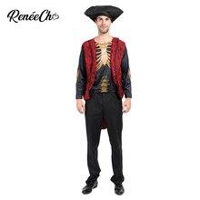 Костюм ренеэхо на Хэллоуин для взрослых мужчин Voodoo костюм «скелет» мертвый пират косплей куртка и шляпа набор fantasia adulto