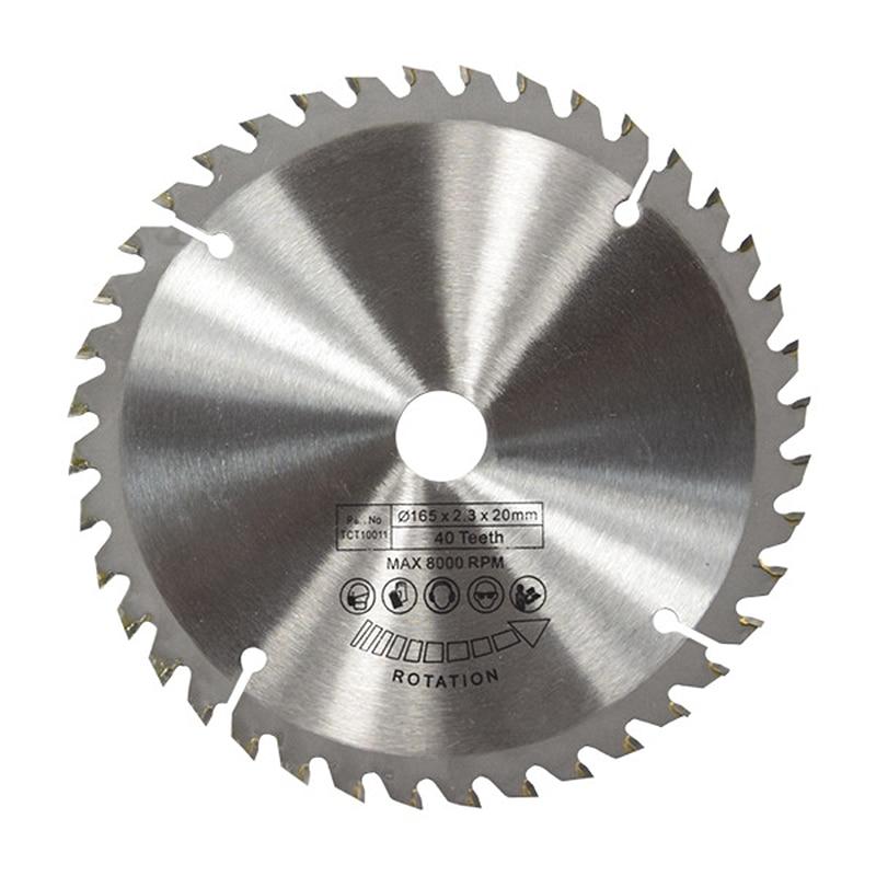 165mm 40T 20mm Bore TCT Circular Saw Blade Disc For Dewalt Makita Ryobi Bosch