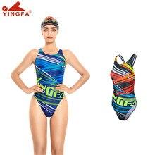 Yingfa 678 treinamento profissional competição maiô de uma peça à prova dchlorine água cloro resistente 2020 novo banho feminino