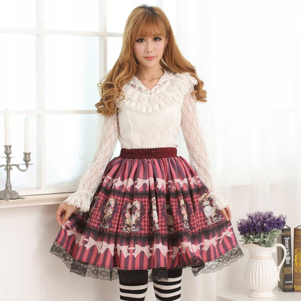 Принцесса сладкий Лолита рубашка сладкий оригинальный дизайн Классическая Леди бабочка длинный рукав кружевная рубашка Лолита нижняя руб...