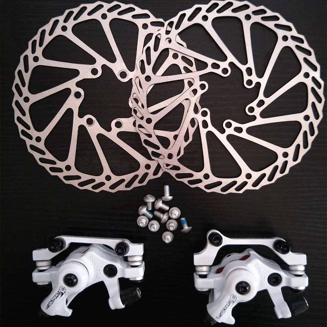Aluminum Alloy MTB Bike Mechanical Disc Brake Cycling Bicycle Front Rear Set