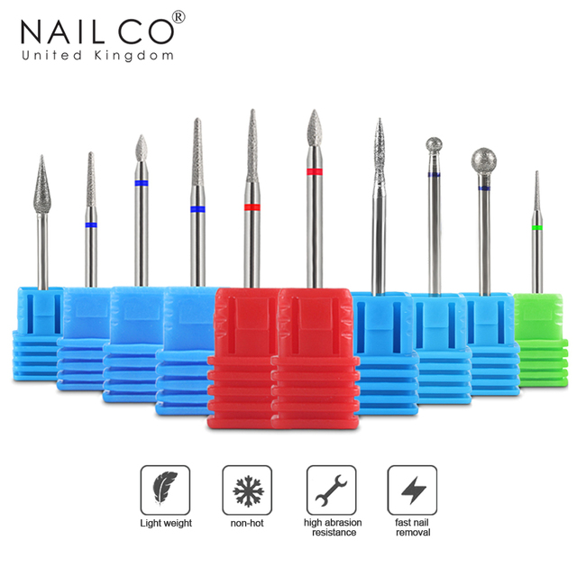 Grinding Bits Accesories For Gel Nail Polish Manicure Grinding Head Best Diamond Burrs UV Nails Art Tool Shank Carving Polishing
