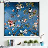 Blumen Vogel Leinwand Gemälde Chinesischen Stil Moderne Dekoration Poster Und Drucke Wand Kunst Bild Für Wohnzimmer Wohnkultur