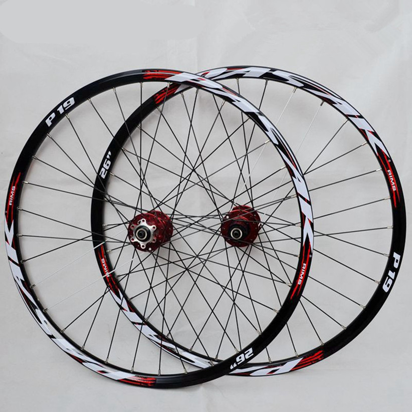 Cnc 26 27.5 29 polegada mtb mountain bike bicicleta oco frente 2 traseira 4 rolamentos selados hub rodas de disco rodado aro