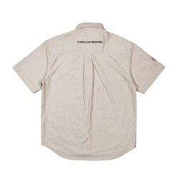 2019 mannen Effen Oxford Katoen Voor Mannelijke en vrouwelijke Shirts heren Hoge Kwaliteit Korte Mouw Losse Street Fashion casual Shirt