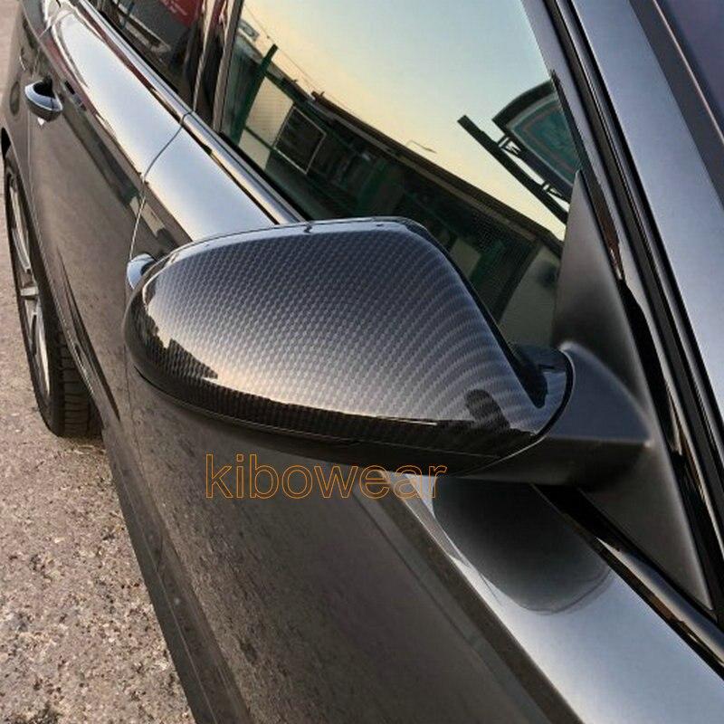 Боковые Крышки зеркала крыла для Audi A6 S6 C7 4G карбоновые крышки 2012 2013 2014 2015 2016 2017 2018 аксессуары allroad Замена