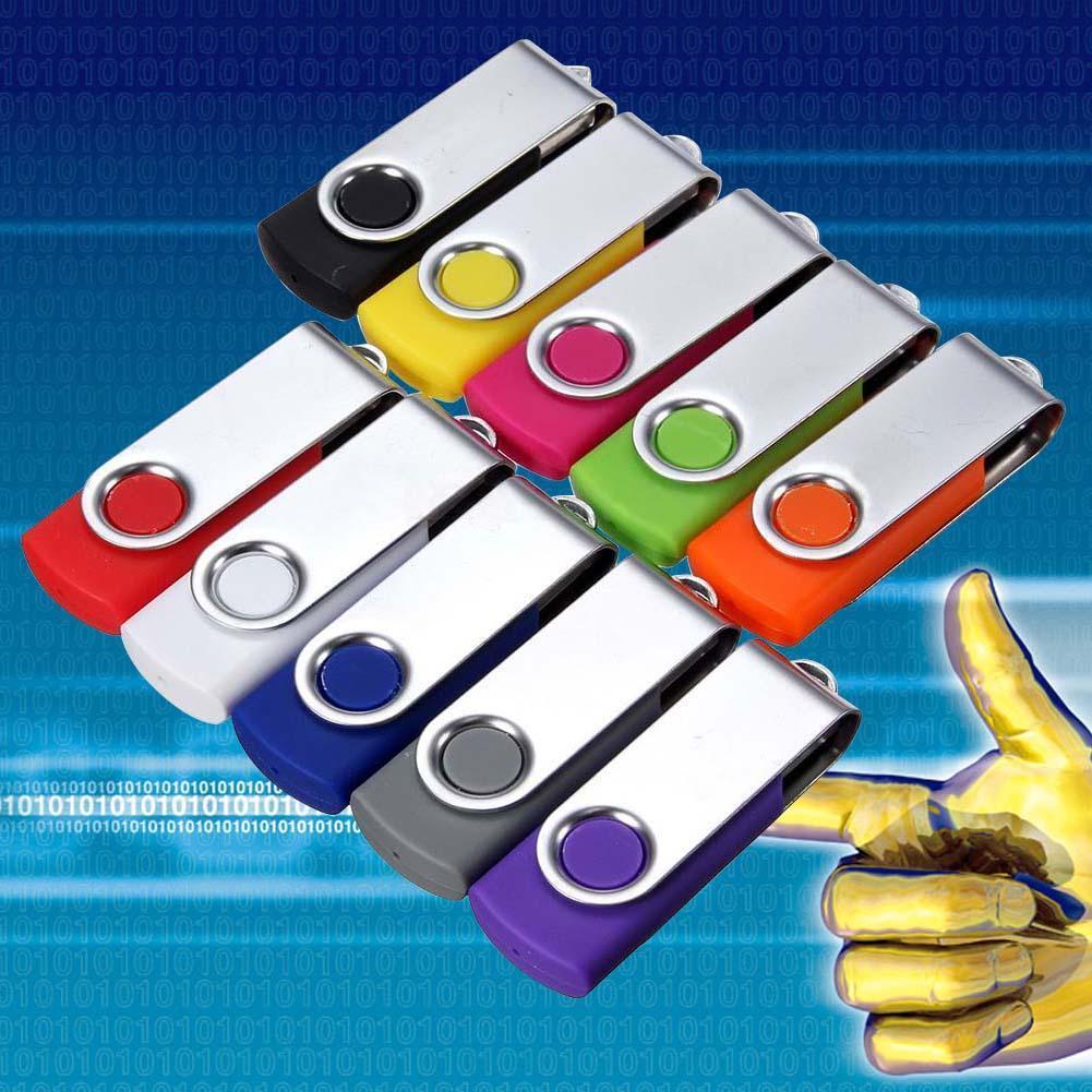 New 64 MB USB 2.0 Flash Drive Pen Memory Stick Compatible Swivel for Data Storage Random Color
