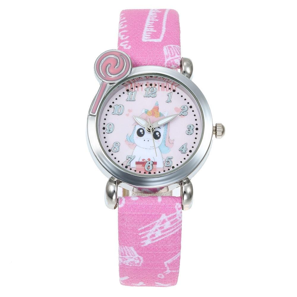Baby Girl Watch Beautiful Unicorn Watches For Girls Boys Kids Plastic Clock Children Wristwatch Lovely Cute Kids Watch Relogio