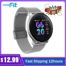 Original Full Touch MoreFit ผู้ชายผู้หญิงสมาร์ทนาฬิกา Heart Rate Monitor ข้อความ Smartwatch กันน้ำ Relojes Inteligentes