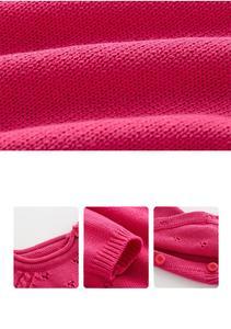 Image 5 - Baby strampler Strick Reiner Baumwolle Babys Kleidung Neugeborenen Baby Mädchen Stricken Wolle langen ärmeln herbst overall Strickwaren 0 24m