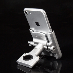 Image 4 - YPAY alüminyum bisiklet motosiklet telefon tutucu usb şarjlı 12 24V dikiz gidon ayna dağı bisiklet telefon braketi