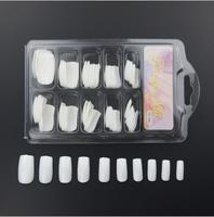 Natural Color Transparent Color Manicure Stick Completely Fake Nails 100 Pieces Boxed Nail Patch Nail Tip Wholesale